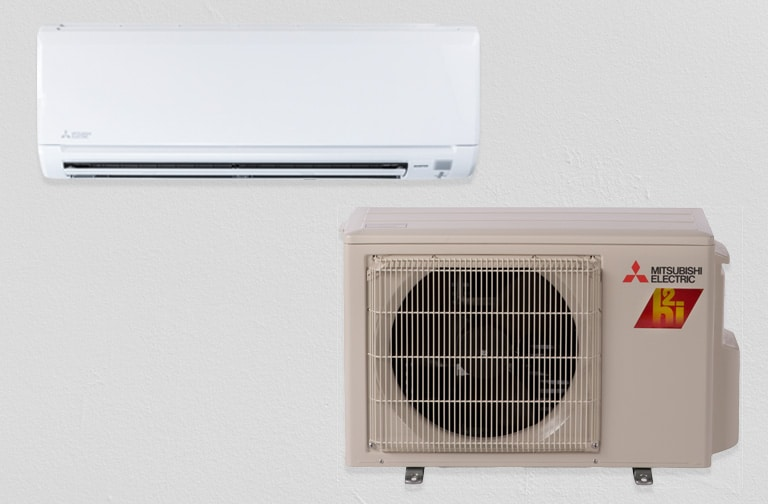 Mitsubishi Ductless M-Series, Outdoor Unit, MMUZFH09NA1 and Indoor unit, MMSZFH09NA